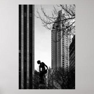 Een solitair Ogenblik in de Stad Poster