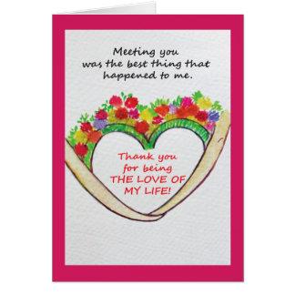Een speciaal bericht van de huwelijksverjaardag wenskaart