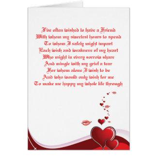 Een Valentijns Gedicht Van De Liefde Kaart