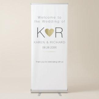 eenvoudig & fundamenteel romantisch huwelijk roll-up banner