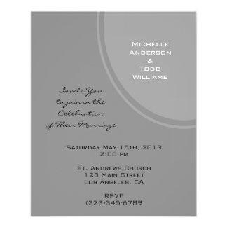 Eenvoudig Grijs Modern Huwelijk Flyer 11,4 X 14,2 Cm