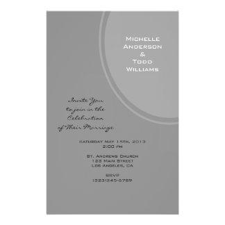 Eenvoudig Grijs Modern Huwelijk Folder Ontwerp