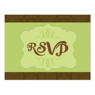 Eenvoudig groene kaart RSVP