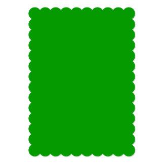 Eenvoudig Groene Stevige Kleur 12,7x17,8 Uitnodiging Kaart