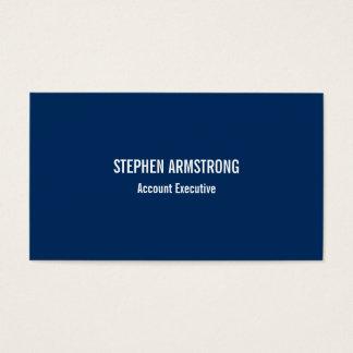 Eenvoudig moderne marineblauwe minimalistische visitekaartjes