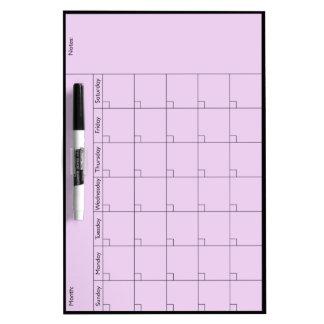 Eenvoudige 5W Med van de Kalender - personaliseer Whiteboard