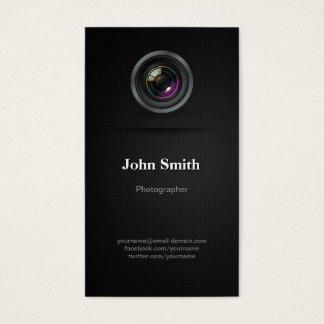 Eenvoudige Duidelijke Zwarte - Fotograaf Visitekaartjes
