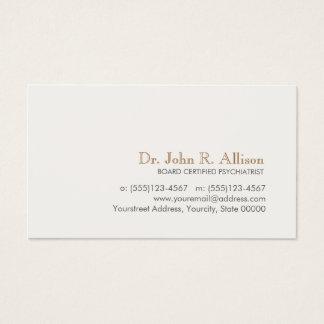 Eenvoudige en Elegante Professionele Psychiater Visitekaartjes