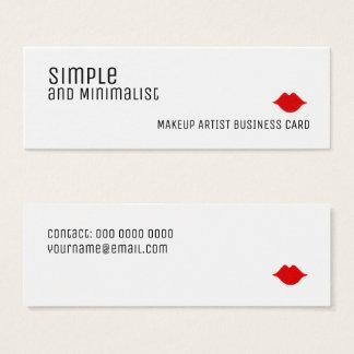 eenvoudige en minimalistische elegante make-up mini visitekaartjes