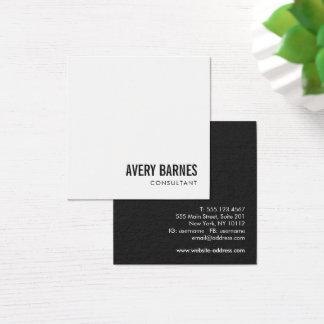 Eenvoudige Moderne Witte Beroeps Vierkante Visitekaartjes
