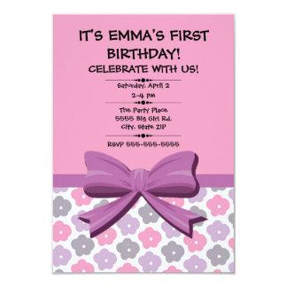 Eerste Verjaardag van het roze de Paarse Grijze Kaart