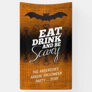 Eet, drink en ben Eng - de Partij van Halloween Spandoek
