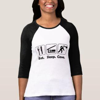 Eet Sleeve die van het Hol van de Slaap Retro 3/4 T Shirt