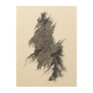 """Eeuwigdurende weg 18 """" x24"""" het Houten Art. van de Hout Afdruk"""