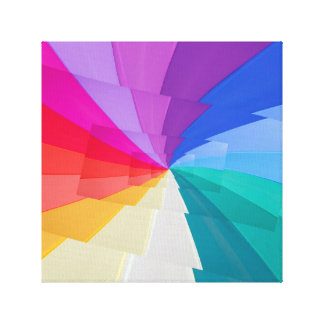 effectuez le droste du vortex coloré sur la toile