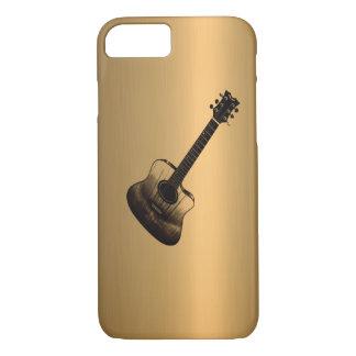 Effet d'en cuivre de bronze de guitare coque iPhone 7