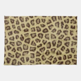 Effet pelucheux de fourrure de peau de léopard de  serviettes pour les mains