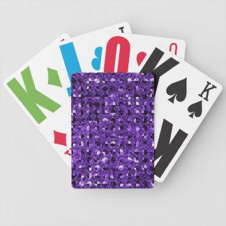 Effet pourpre de paillette jeu de cartes