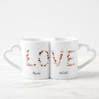Effiloches affectueuses, Love et Hearts, Amour et  Mug
