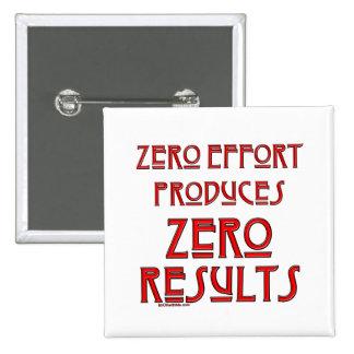 Effort nul… badge carré 5 cm