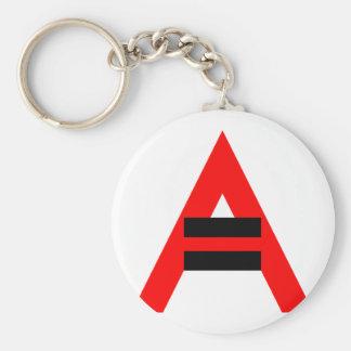 Égalité des droits pour des athées (noir) porte-clé rond