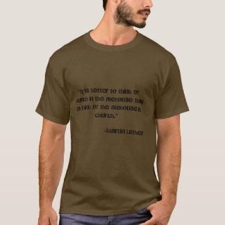 Église dans la brasserie t-shirt
