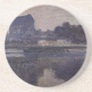 Église de Vernon en brouillard par Claude Monet Dessous De Verres