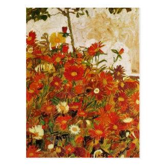 Egon Schiele: Gebied van het kunstwerk van Bloemen Briefkaart