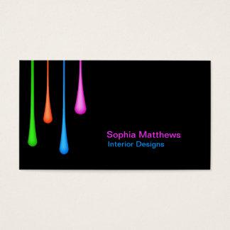 Égouttements de couleur cartes de visite
