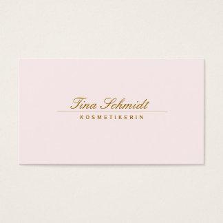 Einfache elegante Kosmetik Salon Spa Rosa Visitekaartjes