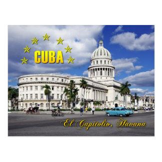 EL Capitolio (capitol national), La Havane, Cuba Carte Postale