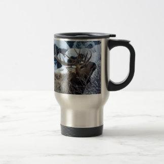 Élans de montagne rocheuse mug de voyage