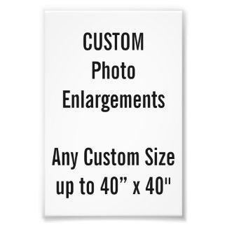 Élargissement de photo de la coutume 100x150mm