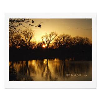 Élargissement sterling de photo de lac reflections