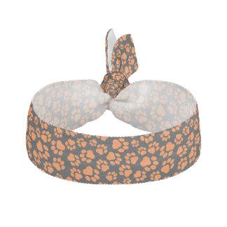 Élastique à cheveux Noir-et-Orange d'empreinte de