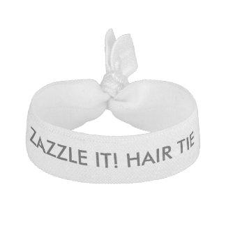 Élastique Pour Cheveux Blanc élastique d'élastique à cheveux personnalisé