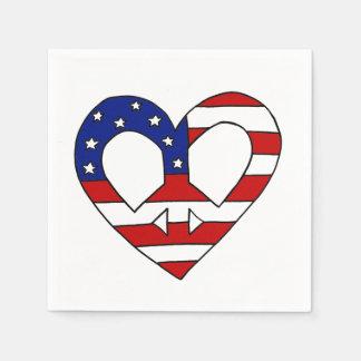 Élections de drapeau des Etats-Unis de paix de Serviettes En Papier