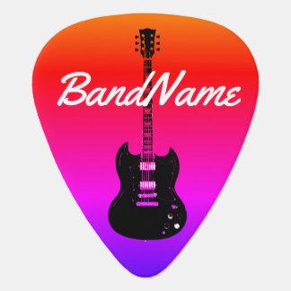 électrique-guitare colorée et fraîche médiators