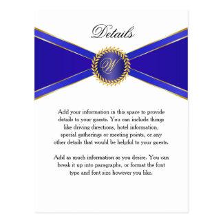 Élégance de bleu royal de carte détail avec le