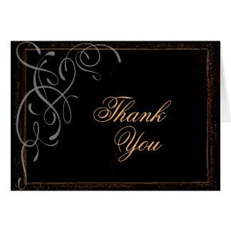 Élégance foncée - carte de remerciements
