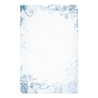 Elegant Blauw Vintage Huwelijk Briefpapier