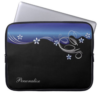 Elegant BloemenSleeve - Saffier Computer Sleeve
