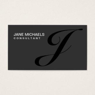 Élégant professionnel de monogramme de couturier cartes de visite