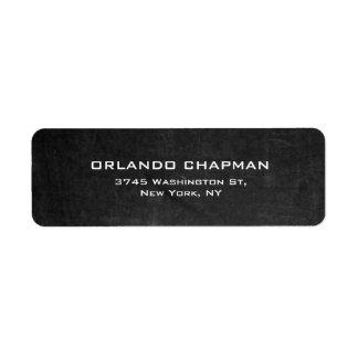 Élégant simple simple de tableau gris moderne étiquette d'adresse retour