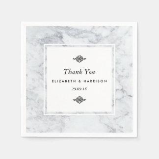 Elegant Vintage Marmeren Huwelijk Wegwerp Servetten