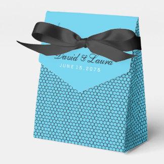 Elegant Zwart en Blauwgroen Blauw Huwelijk Bedankdoosjes