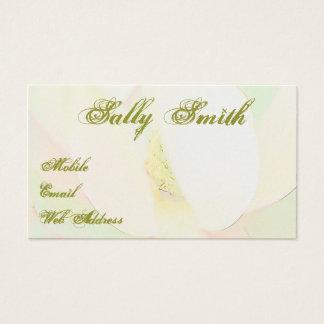 Elegante het ontwerp van de magnolia visitekaartjes