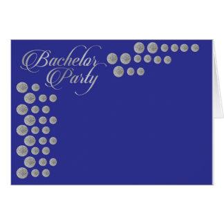 Elegante zilveren en blauwe de partijuitnodiging briefkaarten 0