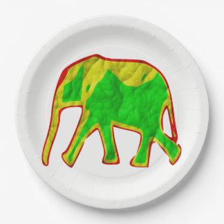 Éléphant africain assiettes en papier