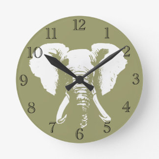 Éléphant africain horloge ronde